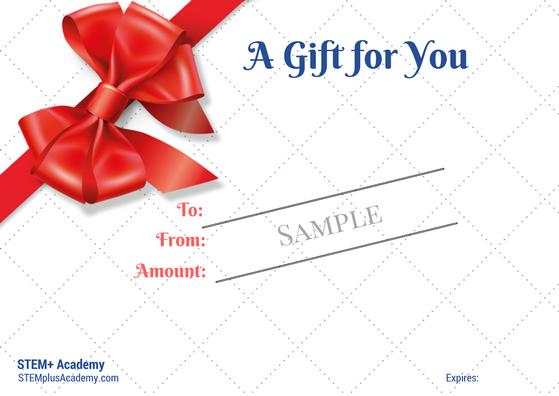 gift certificate sample stem academy